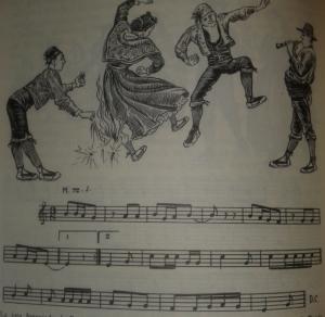 La jota foguejada de Benissanet. Recollida per Joan Amades. Transcripció musical del mestre Joan Tomàs (AMADES, Joan, 2001. Pg. 596, vol. IV)