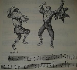 Dansa del Cós de la cordera de la festa major d'Àger. Recollida per Joan Amades. Transcripció musical de Joan Tomàs (AMADES, Joan, 1982. Pg. 583, vol I)