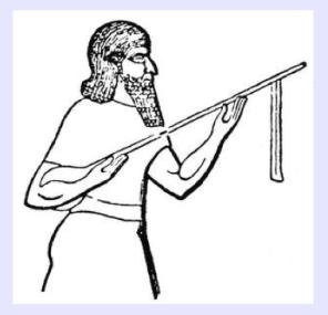 Representación del laúd mesopotámico